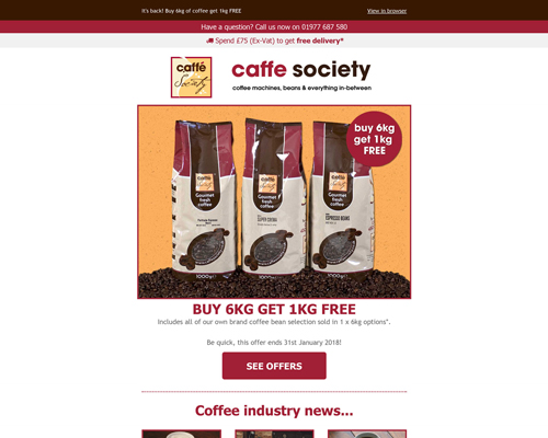Caffe Society Buy 6 get 1 free Preview
