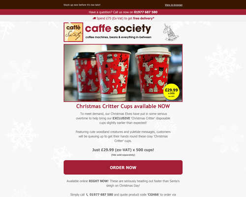 Caffe Society Christmas Cups Preview