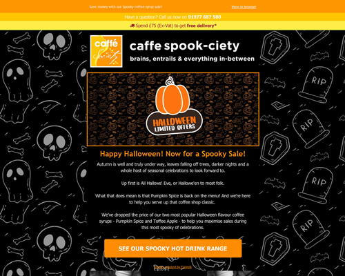 Caffe Society Halloween Offers Preview