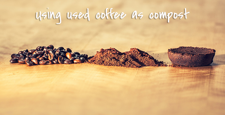 using used coffee as compost