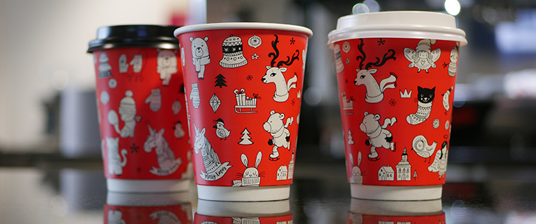 Get festive with our Christmas Cup Critters! Caffe Society