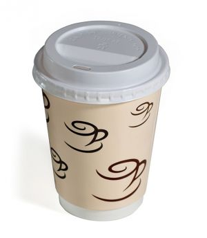 CS Cafe Design Double Wall Cups and Lids