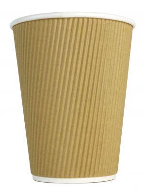 12oz Caffe Society Kraft Ripple Cups