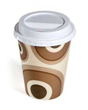 CS Circles Design Single Wall Cups and Lids